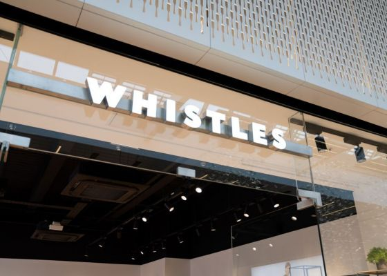 Whistle's store front, Meadowhall