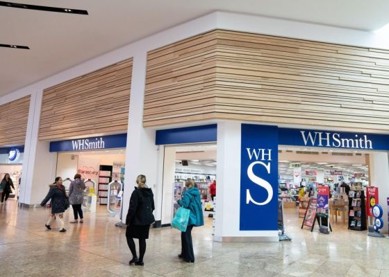 WH Smith store front.