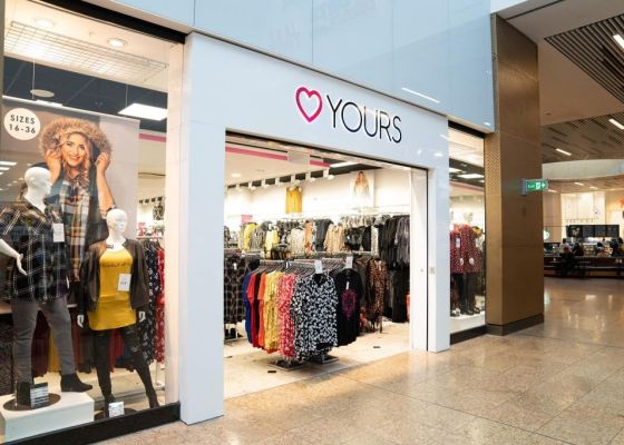 Yours store front, Meadowhall.