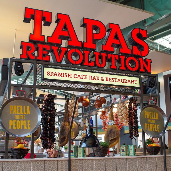 Tapas Revolution sign.