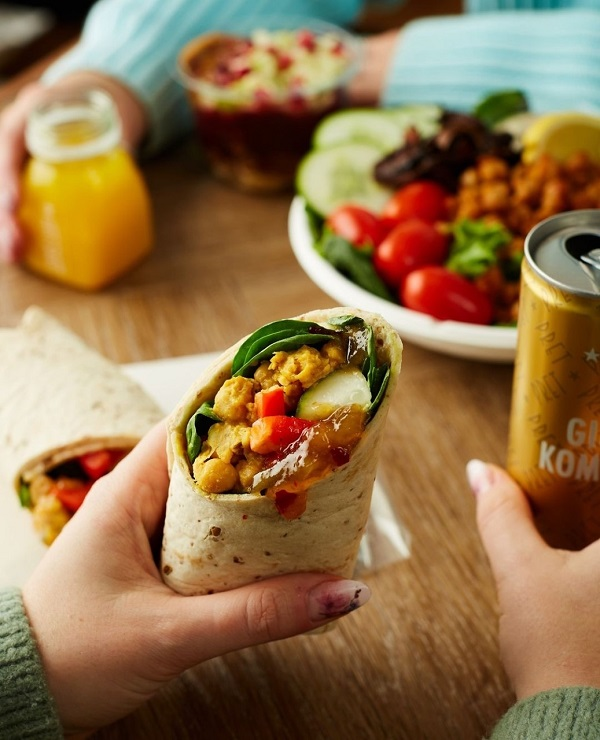 A wrap from Pret.