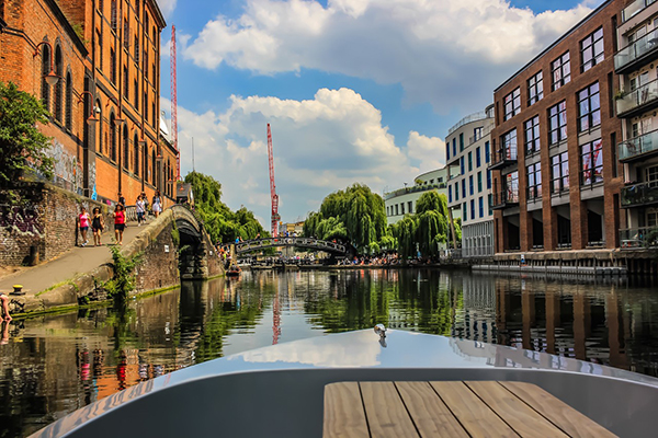 view of Regent's Canal from a Go Boat