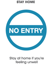 Paddington Central's Covid 19 Plan Your Visit - no entry icon