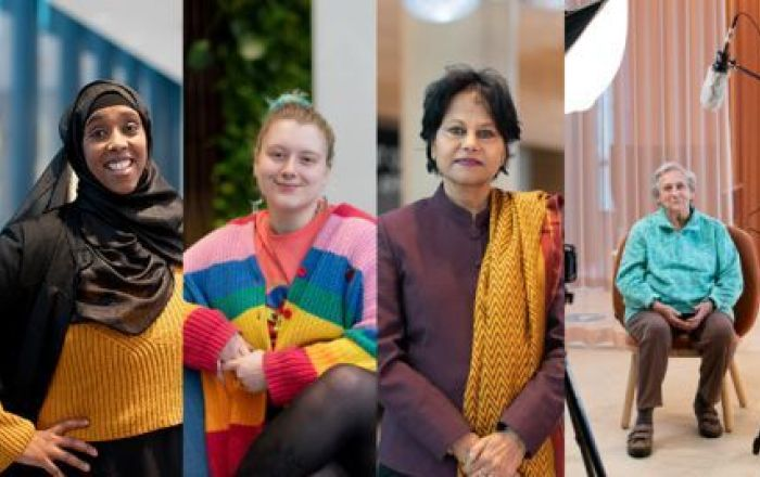 Photo of four different women.
