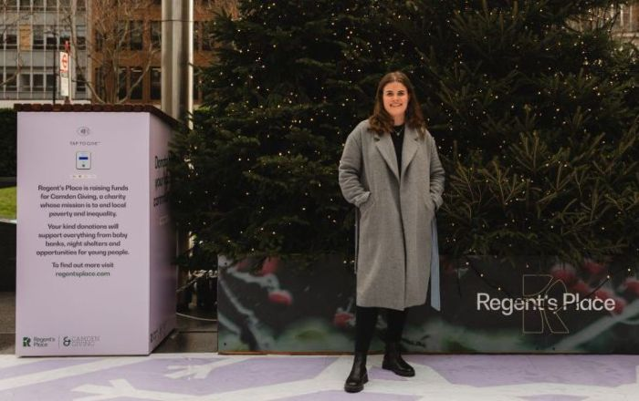 Grace Coffey from Camden Giving at Regent's Place