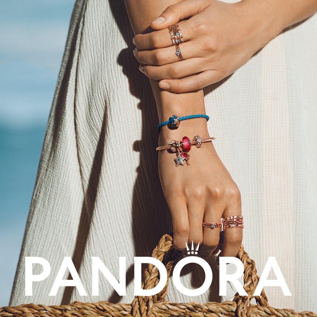 bracelets from Pandora on a model arm