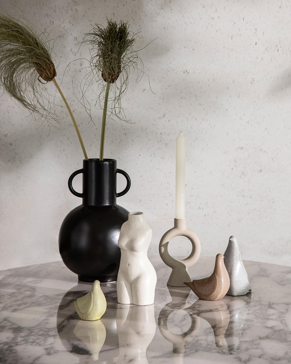 A vase and ornaments from next