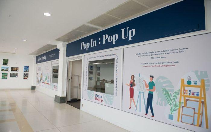 Pop In: Pop Up exterior store front