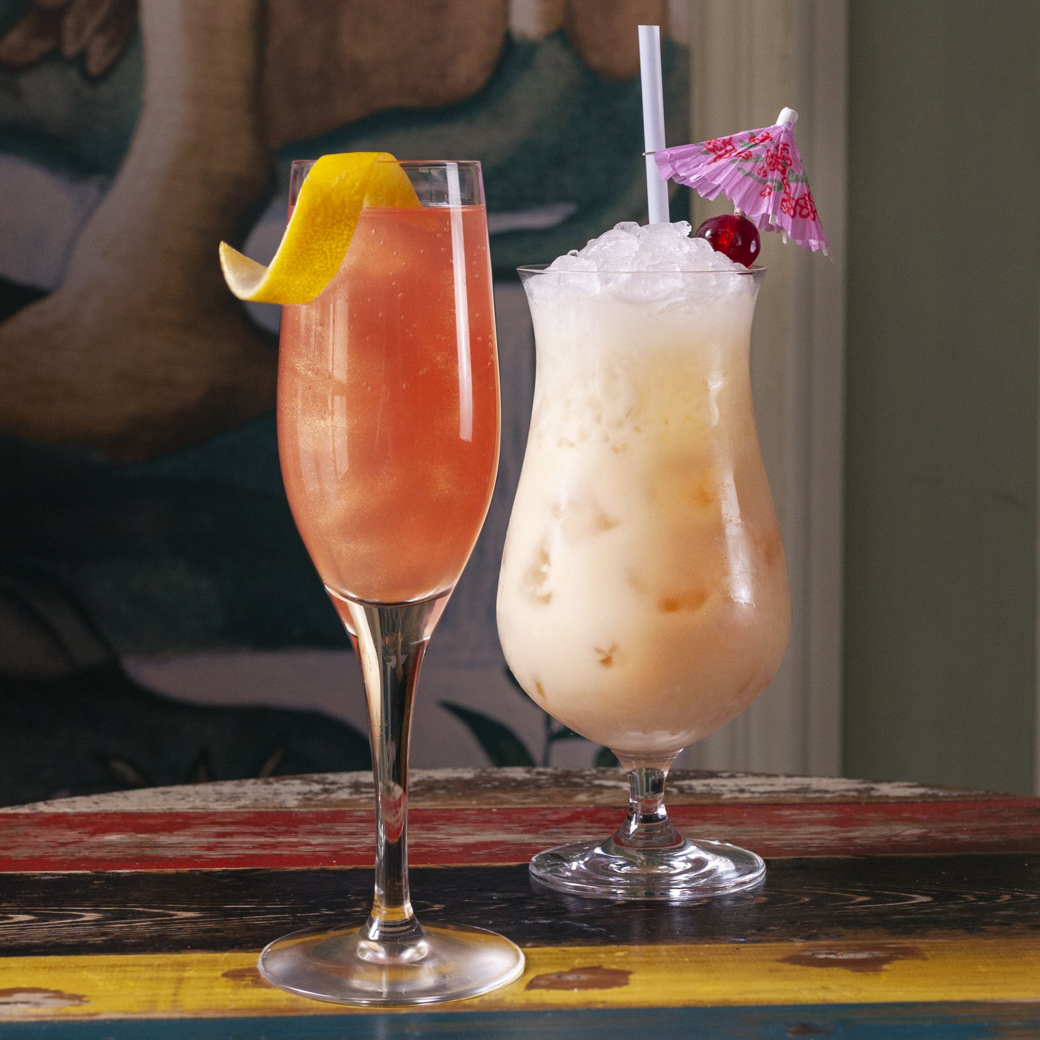 Two cocktails from Cosy Club