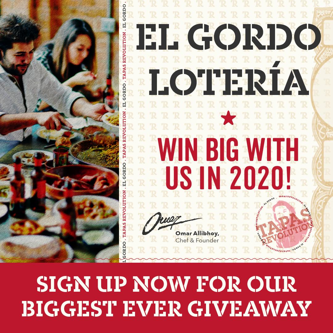 Tapas Revolution El Gordo Loteria