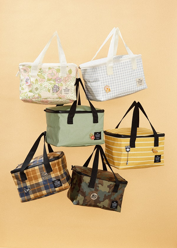 a selection of colourful cool or picnic bags from Typo.