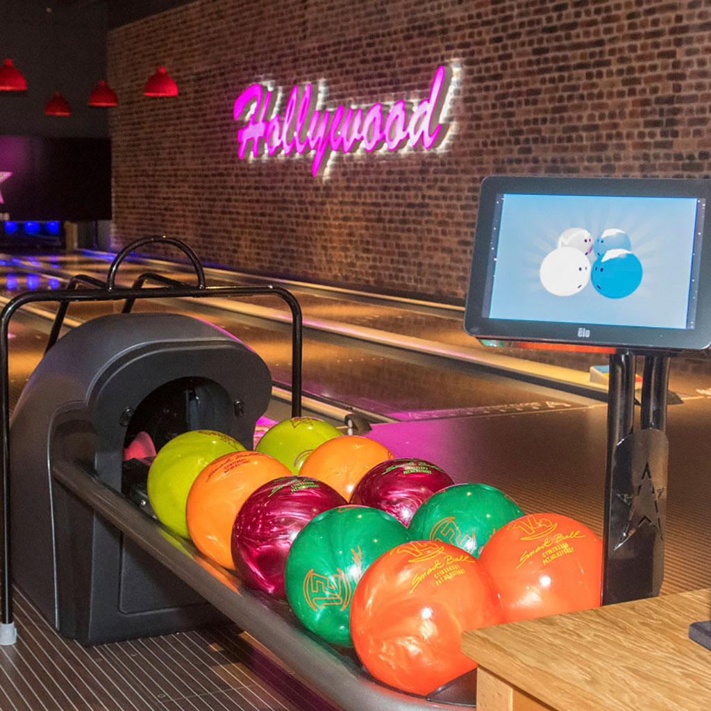 Bowling balls at Hollywood Bowl