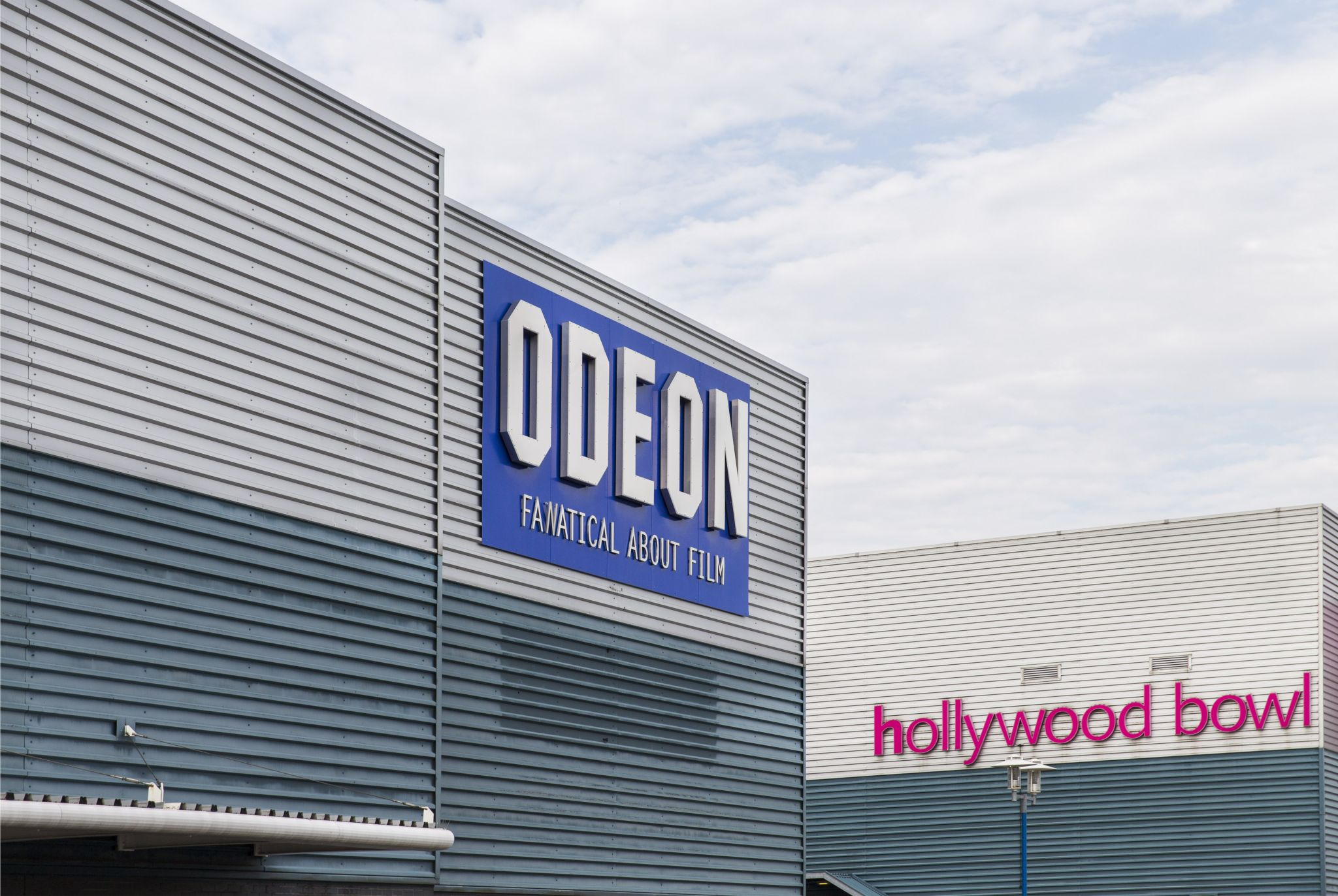 Odeon cinema building sign