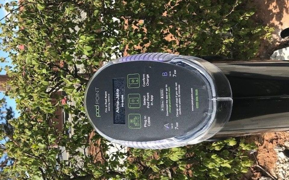 Local MP Matt Vickers officially unveils our brand new EV charge points