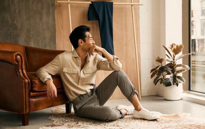 Male model for Moss Bros autumn fashion campaign