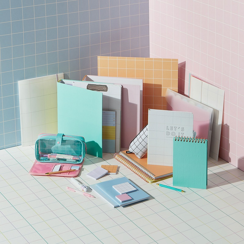 A variety of pastel coloured paperchase stationery