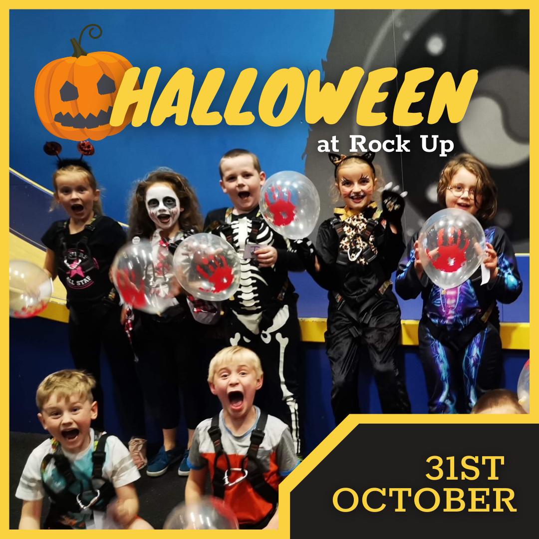 children dressed in halloween costumes.