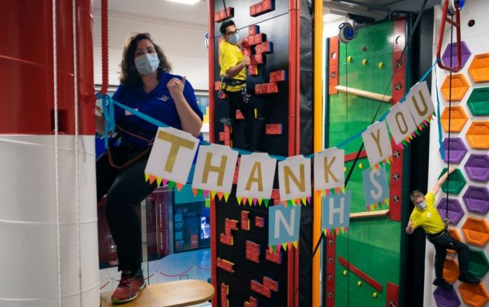 Rock Up's NHS Free Climb Thank You Event